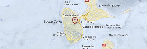 Carte Basse-Terre - Guadeloupe