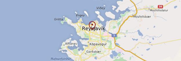 Carte Reykjavik et ses environs - Islande