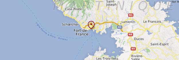 Carte Fort-de-France - Martinique
