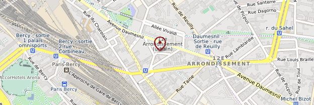 Carte 12ème arrondissement - Paris