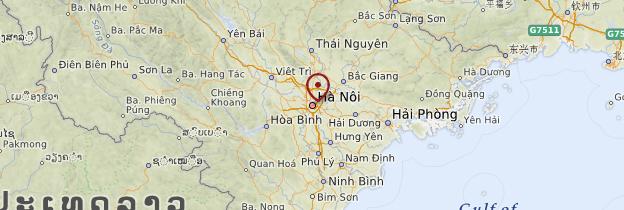 Carte Hanoi et le Nord - Vietnam