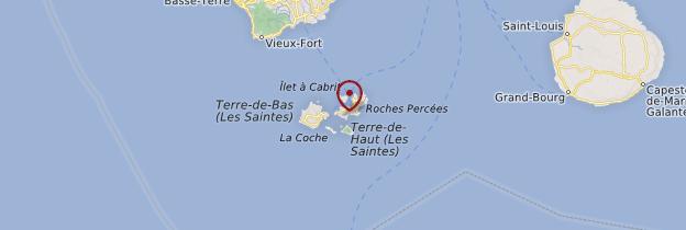 Carte Les Saintes - Guadeloupe