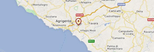 Carte Sicile africaine - Sicile