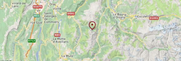 Carte Isère - Alpes