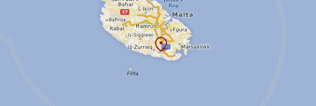 Carte Sud de Malte - Malte