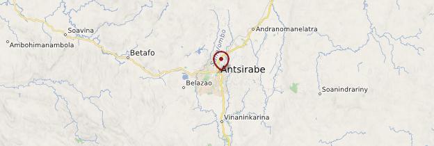 Carte Antsirabe - Madagascar