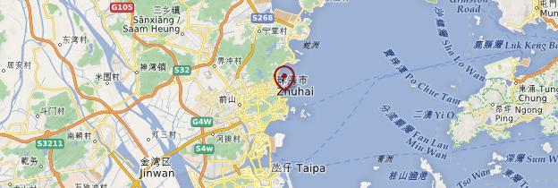 Carte Zhuhai - Chine