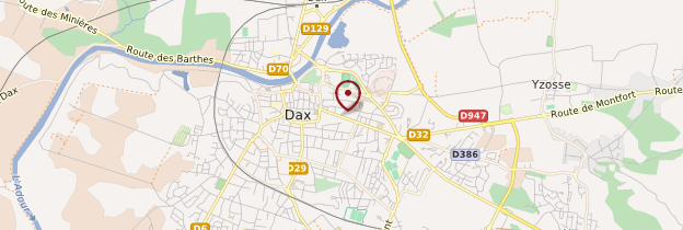 Carte Dax - Aquitaine - Bordelais, Landes