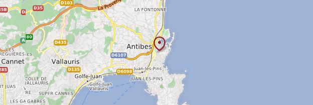 Carte Antibes - Côte d'Azur