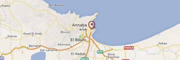 Carte Annaba - Algérie