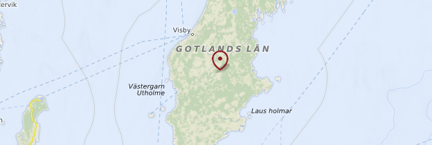 Carte Île de Gotland - Suède