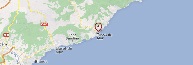 Carte Tossa de Mar - Catalogne