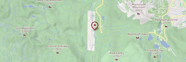 Carte Devil's Postpile National Monument - Parcs nationaux de l'Ouest américain