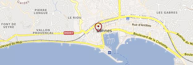 Carte Cannes - Côte d'Azur