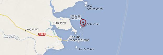 Carte Ilha de Sete Paus - Mozambique