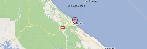 Carte Kourou - Guyane
