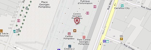 Carte Centre Pompidou (Beaubourg) - Paris