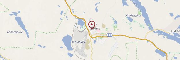 Carte Kiruna - Suède
