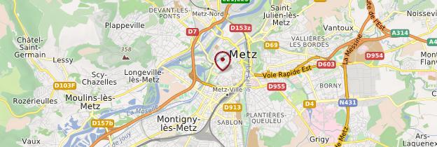 Carte Metz - Lorraine