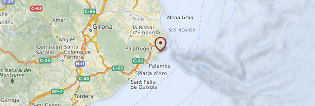 Carte Callela de Palafrugell - Catalogne