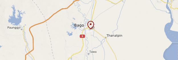 Carte Bago (Pégu) - Birmanie