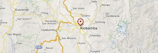 Carte Riobamba - Équateur
