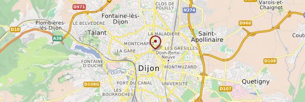 Carte Dijon - Bourgogne