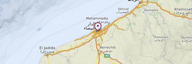Carte Casablanca - Maroc