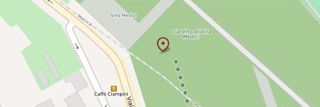 Carte Villa Médicis - Rome