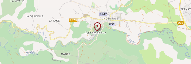 Carte Rocamadour - Midi toulousain - Occitanie