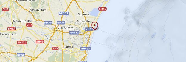 Carte Puducherry (Pondichéry) - Inde