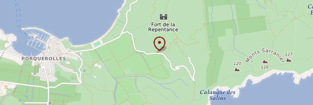 Carte Île de Porquerolles - Côte d'Azur