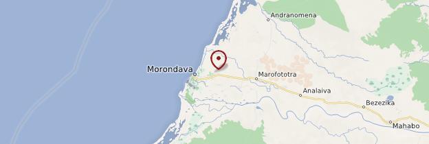Carte Morondava - Madagascar