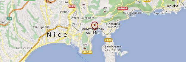 Carte Villefranche-sur-Mer - Côte d'Azur