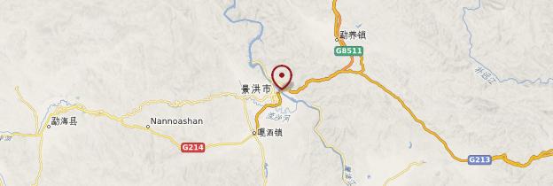 Carte Jinghong - Chine