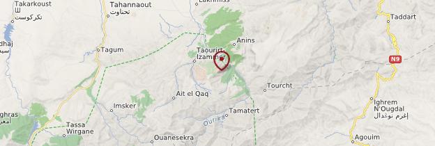Carte Vallée de l'Ourika - Maroc