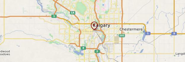 Carte Calgary - Canada