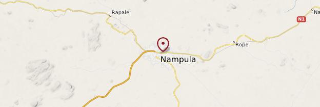 Carte Nampula - Mozambique