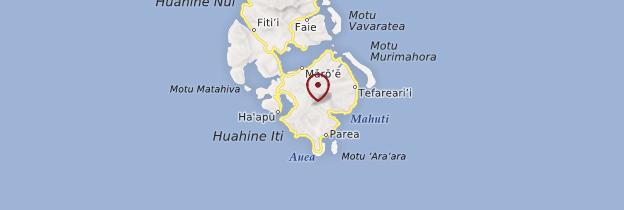 Carte Huahine - Polynésie française