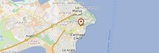 Carte Carthage - Tunisie