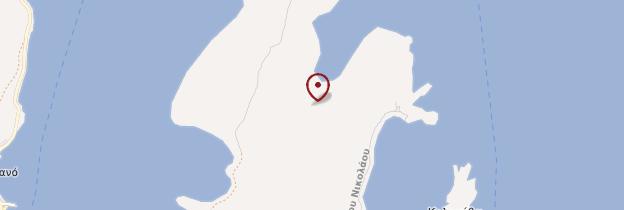 Carte Île de Spinalonga - Crète