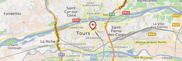 Carte Tours - Châteaux de la Loire