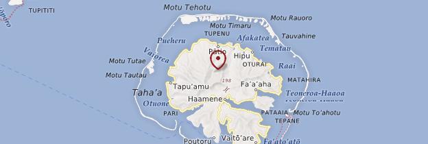 Carte Tahaa - Polynésie française