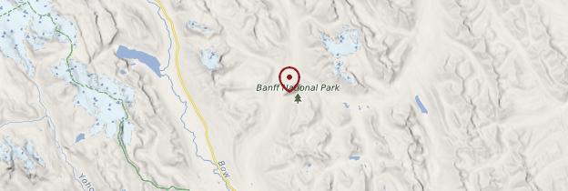 Carte Parc national de Banff - Canada