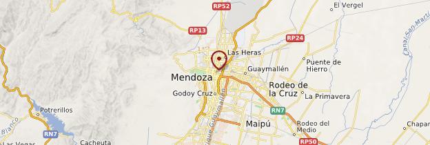 Carte Mendoza - Argentine