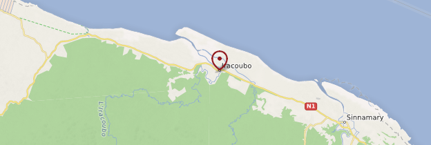Carte Iracoubo - Guyane