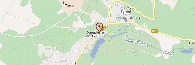 Carte Dampierre-en-Yvelines - Île-de-France