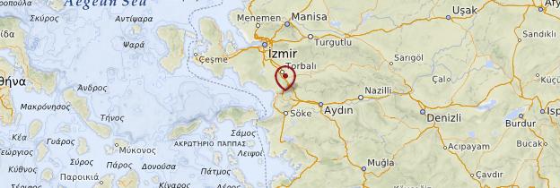 Carte Éphèse - Turquie