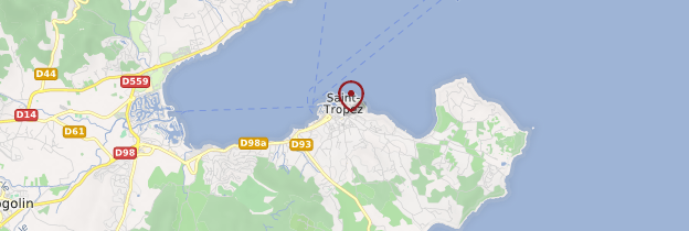 Carte Saint-Tropez - Côte d'Azur