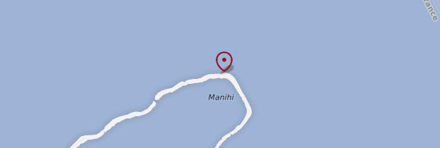 Carte Manihi - Polynésie française